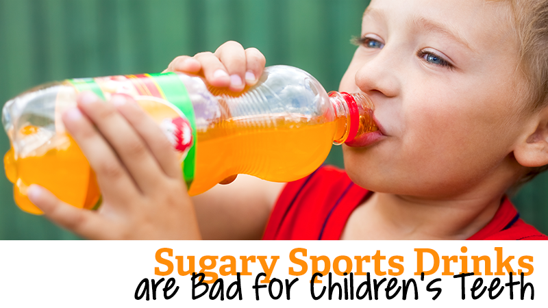 Sugary Sports Drinks are Bad for Children's Teeth